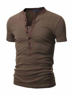 Doublju Mens Henley T-shirts with Short Sleeve BROWN (US-S) Doublju,http://www.amazon.com/dp/B00BTO3HP6/ref=cm_sw_r_pi_dp_zfIktb0W7060CF5P