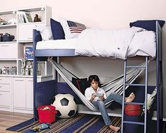 Bedroom with hammock