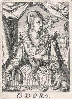 """""""Odor"""" by  Hendrick Hondius (I), 1583-1650"""
