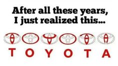 The Toyota Logo |   Insanely Clever Logos With Hidden Meanings