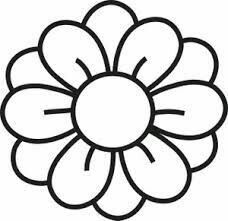 """Simple Flower By Hakanl Line Drawing Of A Cartoonkid Clipart . Yellow Flower clipart - pin to your gallery. Explore what was found for the yellow flower clipartFlowers Clipart Black And White Free Clipart ImagesKéptalálat a következőre: """"clip a Flower Clipart Images, Free Clipart Images, Art Clipart, Clipart Of Flowers, Flower Outline, Flower Shape, Flower Art, Free Clip Art Flowers, Flower Clips"""