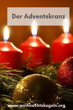 Der klassische Adventskranz besitzt eine lange Tradition und gibt den Startschuss für die Vorweihnachtszeit. Diy Design, Christmas Bulbs, Holiday Decor, Home Decor, Christmas Jewelry, Crown Cake, Classic, Decoration Home, Christmas Light Bulbs