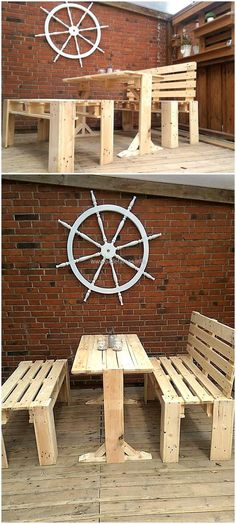 pallets patio dining set idea