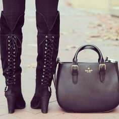 Amanda's #ootd. #katespade purse and #shoemint boots to die for!