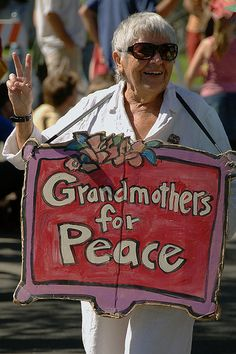 Another Grandmother for Peace. Good for her!  http://tm-women.org/benefits-spirituality-collective-consciousness.html