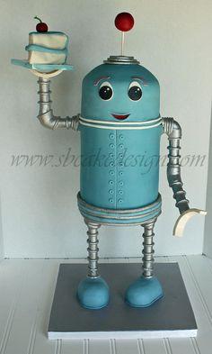 3D Robot Cake