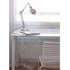 Interior Styling, Interior Design, Work Lamp, White Desks, White Houses, White Furniture, White Style, Ios App, Home Office