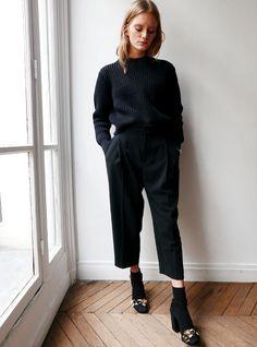 Le parfait total look noir #196 (photo Glamour)