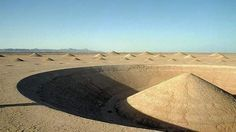 mysterious cones of the Egyptian desert