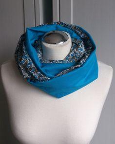Schlauchschal - Blumenwiese blau von sissela auf DaWanda.com
