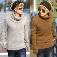 $10.30 Men's Gloves Design Sleeve Knitting Shirt Sweater