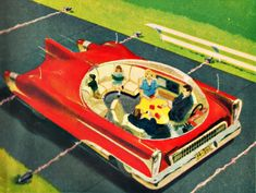 A vision of a car from 1975 which appeared in Popular Science. - Auto Show 2020