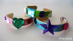 artsy-fartsy mama: Popsicle Stick Bracelets