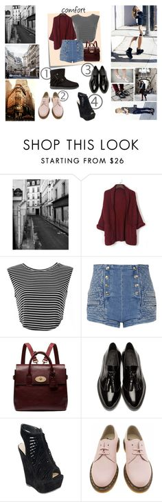 """""""comfort"""" by jeesxx ❤ liked on Polyvore featuring Comfort Zone, Post-It, WithChic, Pierre Balmain, Mulberry, Burberry, Dr. Martens, UGG Australia, women's clothing and women"""