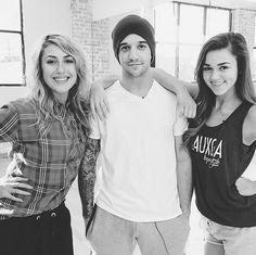 Emma,Mark and Sadie at rehearsal.  2014