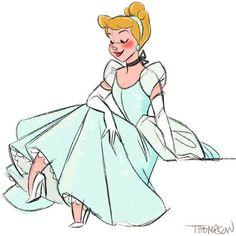 Cinderella by Disney artist Steve Thompson Disney Animation, Disney Pixar, Disney Amor, Deco Disney, Disney Fan Art, Disney And Dreamworks, Disney Girls, Disney Movies, Disney Characters