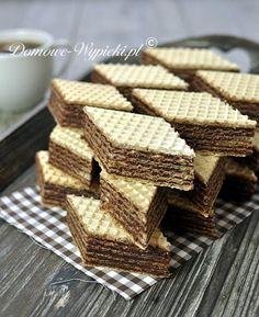 ~J Homemade Chocolate Wafers (Polish) Polish Desserts, Polish Recipes, Just Desserts, Delicious Desserts, Yummy Food, Polish Food, Chocolate Wafer Cookies, Chocolate Wafers, Homemade Chocolate
