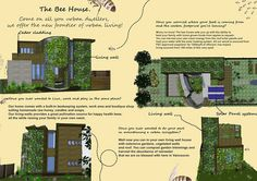 The Bee House ... makes extensive use of living walls and green roofs planted with bee-friendly vegetation. This built-in beekeeping system, completed by a backyard hive, serves to pollinate the home's surrounding garden areas...