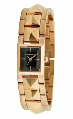BCBGMAXAZRIA Women's BG8303 Eclectic Rectangle Tank Rose Gold Pyramid Bracelet Watch BCBGMAXAZRIA. $146.25. Limited lifetime warranty. Solid stainless steel case, caseback & crown. High grade solid stainless steel link bracelet with solid stainless steel push button jewelry clasp. Water-resistant to 30 M (99 feet). Japanese quartz 3-hand movement with sweeping second hand. Save 25%!