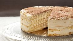 Crepe Cake via Tasting Table. Learn how to make an impressive mille-crepe tiramisu cake, perfect for birthdays, dinner parties and other grand occasions. Food Cakes, Cupcake Cakes, Dessert Crepes, Cheese Dessert, Tiramisu Cake, Tiramisu Crepe Cake Recipe, Tasting Table, Cake Tasting, Mille Crepe