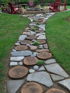 38 DIY garden paths and sidewalks Ideas for the garden # for landscapi . - 38 DIY garden paths and sidewalks ideas for the garden landscaping backyard -