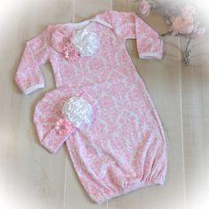 Newborn Baby Girl Take Home costume robe de par PoshBabyBlooms