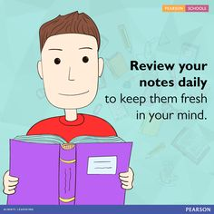 Don't wait until the night before the test to review your notes. Go over your notes each day while the lecture is still fresh in your mind. Add any missing pieces. Compare your notes with a classmate's notes. Review your notes each day to reinforce your learning and build towards your ultimate goal.