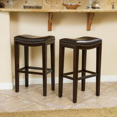 Christopher Knight Home 'Avondale' Brown Backless Bar Stools (Set of 2) - Overstock™ Shopping - Great Deals on Bar Stools