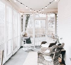 Add lights onto the sunroom or screened in porch!