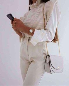 Mode Outfits, Fashion Outfits, Womens Fashion, Fashion Trends, Work Fashion, Fashion Looks, Spring Fashion, Style Fashion, Monochrome Fashion