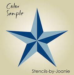 "Free Primitive Star Stencil   Stencil 8"" Nautical Barn Star Primitive Folk Art Wall   eBay"
