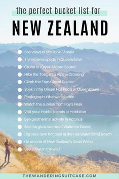 Incredible experiences to add to your New Zealand bucket list. Can't miss experiences when you visit the north and south islands of New Zealand. NZ travel inspiration. What to do, what to see and what to experience in New Zealand. New Zealand Itinerary, New Zealand Travel Guide, Travel List, Travel Guides, Travel Bucket Lists, Solo Travel, New Zealand Adventure, New Zealand South Island, Roadtrip