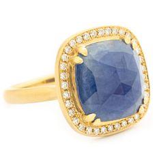 Rosamaria G Frangini   High Blue Jewellery   One of a Kind Rich Blue Cushion Rosecut Sapphire Ring