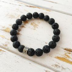 Lava Bead Bracelet ~ Earth   Lava Beads