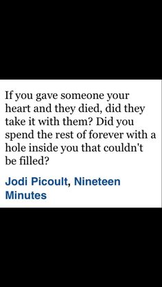 Jodi Picoult, Nineteen Minutes Quote.