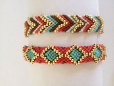 Friendship bracelets with some bead bling  #handmade #jewelry