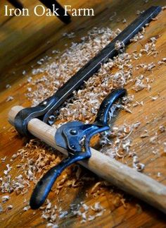 Using the spokeshave