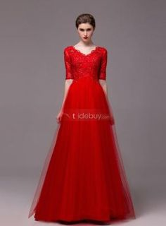 Gorgeous A-Line Half Sleeves Appliques Sequins Floor-Length Evening Dress Cheap Evening Gowns, Evening Dresses With Sleeves, Evening Dresses Online, Chiffon Evening Dresses, Gowns Online, Fabulous Dresses, Beautiful Gowns, Pretty Dresses, Beautiful Outfits