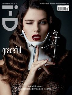 The Role Model Issue: Isabeli Fontana by Daniele & Iango for the cover of i-D Magazine Fall 2012
