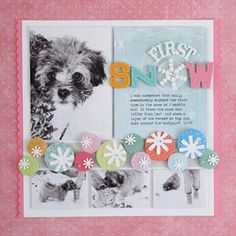 Pretty Punch Winter Scrapbook Page-nice layout