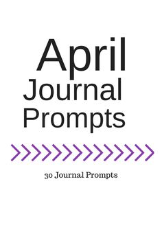 Life of Lovely: April Journal Prompts + printable