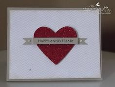 Julie Makes Cards: Banner Anniversary Card