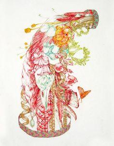 Found through Design Sponge blog featuring Meg Adamson work.  I like this piece, lots to see in it.  Enjoy!