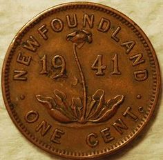 Pre-Confederation penny from Newfoundland - Newfoundland was a separate British colony and then dominion until when it joined Canadian Confederation. 1941 is the year my husband was born, he was only 8 when this took place. Canadian Things, I Am Canadian, Canadian History, Newfoundland Canada, Newfoundland And Labrador, Canadian Confederation, Canada Eh, Atlantic Canada, World Coins