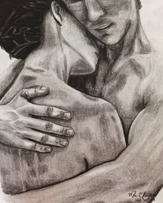 My art. Sketch. Hug. Maria Claudia.