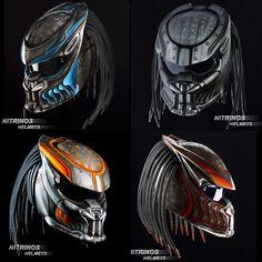 Более 60 вариантов аэрографии для оригинального шлема хищник. Кроме того, художник, по вашему желанию, может сделать индивидуальный эскиз. Выбирайте свой вариант окраски на официальном сайте Nitrinos