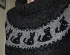Damegenser m/ katter   Stoff & strikk Drops Baby, Alpaca, Lace Knitting Patterns, Drops Design, Stitch Design, Yarn Crafts, Tweed, Sweater Cardigan, Needlework