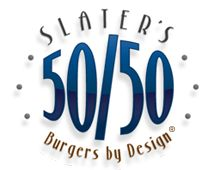 Slater's 50/50 - Burgers by Design™ in Anaheim  Half beef, half bacon patties, peanut butter jelly bacon burger, bacon brownie....