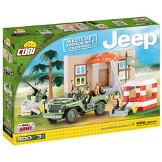 Cobi Willys MB Barracks with Checkpoint Set