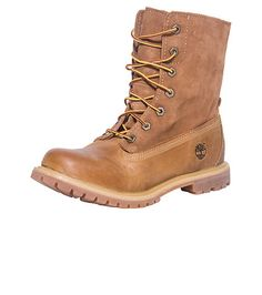 TIMBERLAND Women's Authentic Roll Top boot Lace up closure Roll top design Premium Leather and suede upper TIMBERLAND tree logo branding on side of shoe Cushioned inner sole for comfort Reinforced traction rubber outsole for ultimate performance